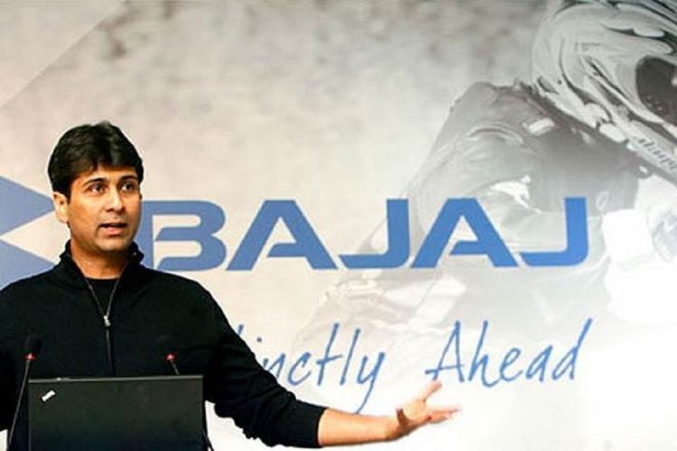 Rajiv Bajaj during a press conference