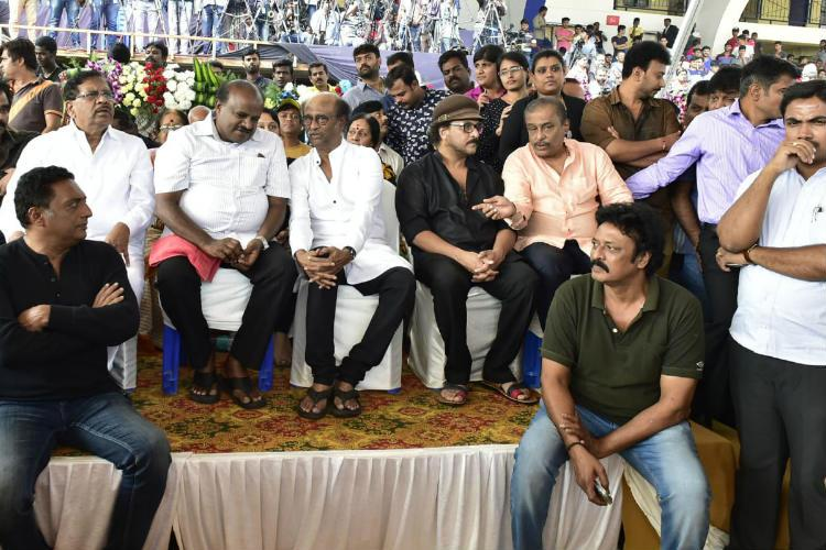 Actors politicians fans gather in Bengaluru to pay homage to rebel star Ambareesh
