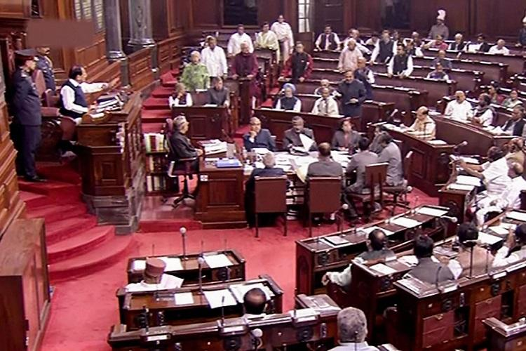 Rajya Sabha in session