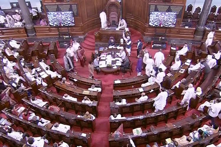 A view of the Rajya Sabha during the Monsoon Session of Parliament in New Delhi