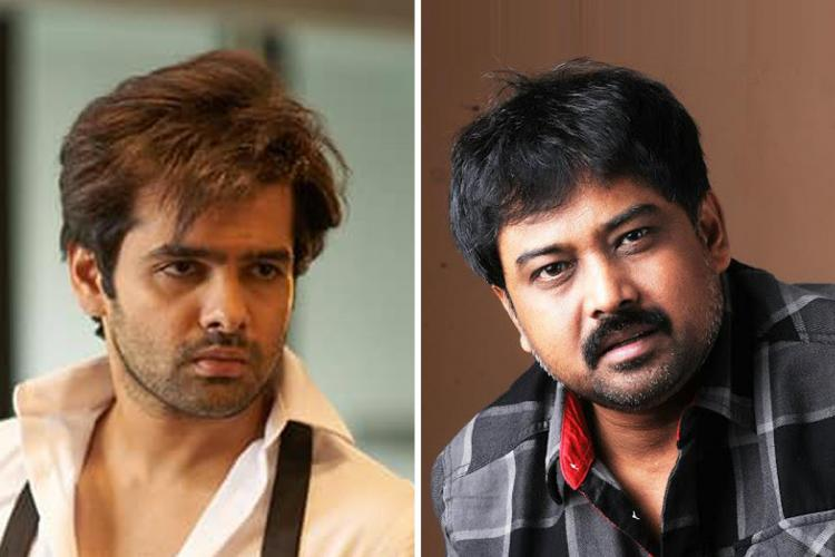 Ram Pothineni on the left and director Lingusamy on the right.