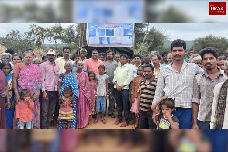 Give land thats rightfully ours Adivasis in Karnataka go on indefinite strike