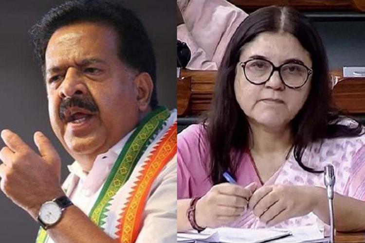 Apologise for fake statement against Malappuram Ramesh Chennithala to Maneka Gandhi