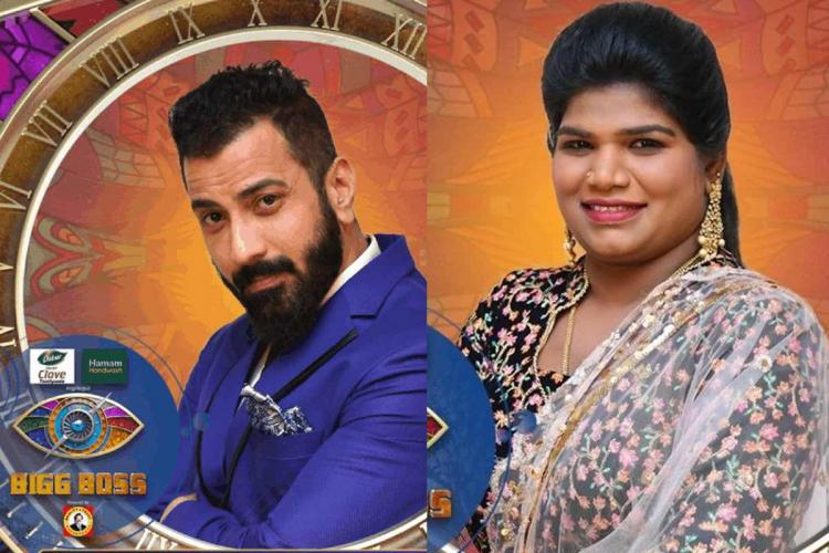 Bigg Boss Tamil season 4 contestants Ramesh and Nisha collage