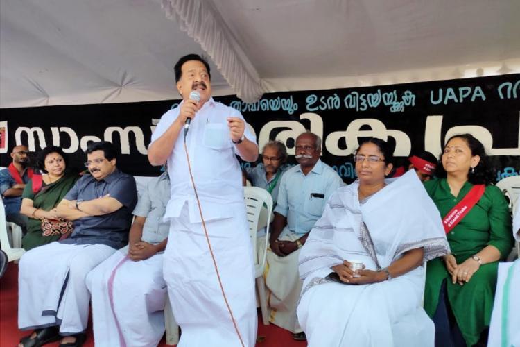 Kerala Opposition Leader Ramesh Chennithala