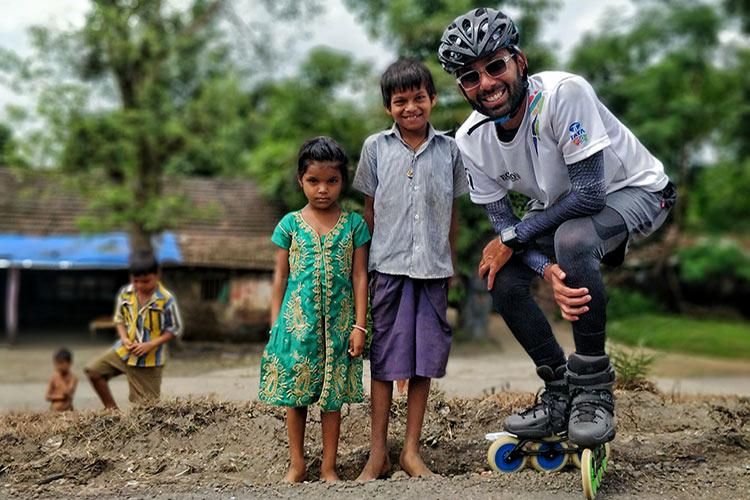 This AP man skated over 5500 kms to raise awareness for education of girls
