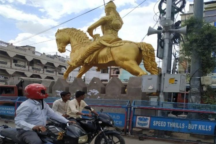 BJPs Raja Singh in trouble with cops but residents support illegal statue he erected