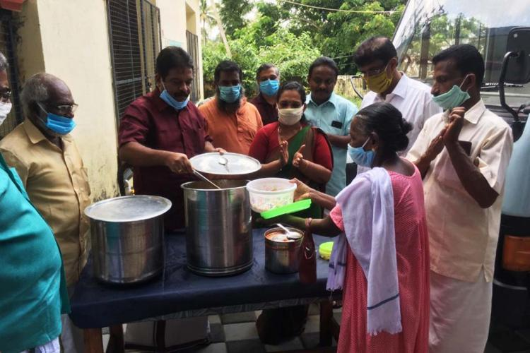 Ranni block panchayat is providing free food to patients and attenders of Ranni taluk hospital