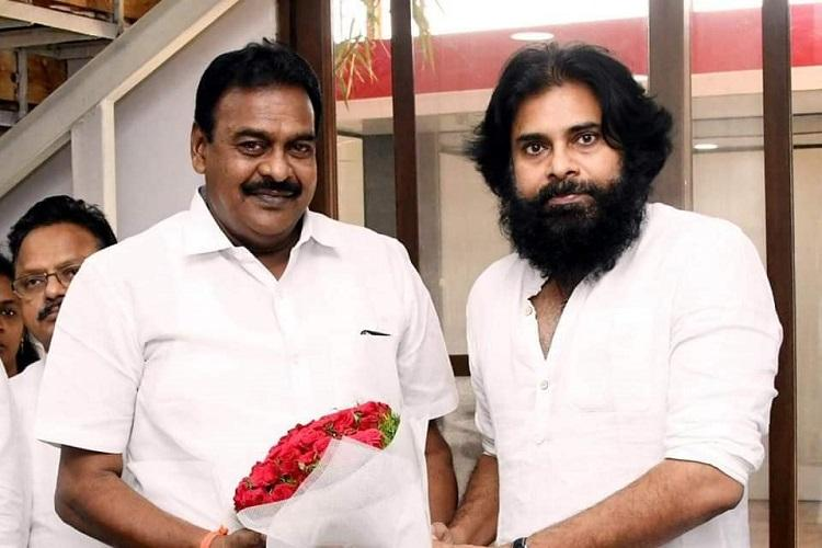Jana Sena MLA held for attack on Andhra police station Pawan Kalyan backs him