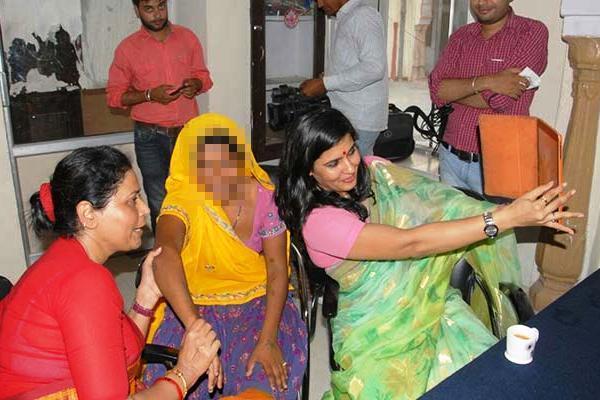 Selfie with rape survivor Rajasthan women panel member resigns NCW summons chief