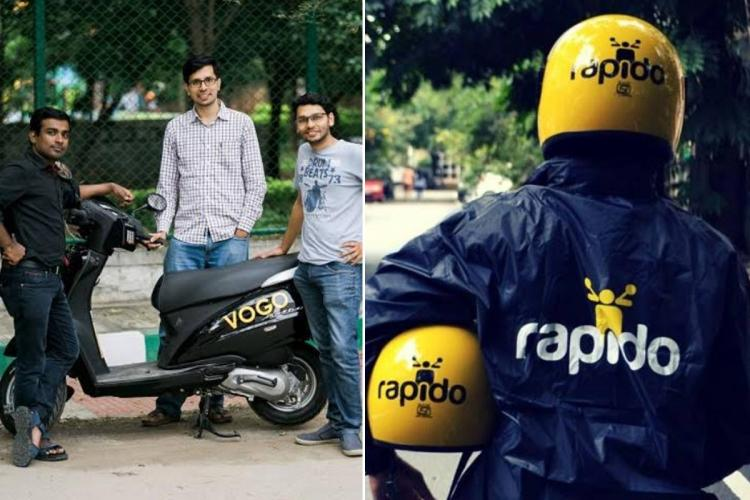 Rapido rider and Vogo co-founders