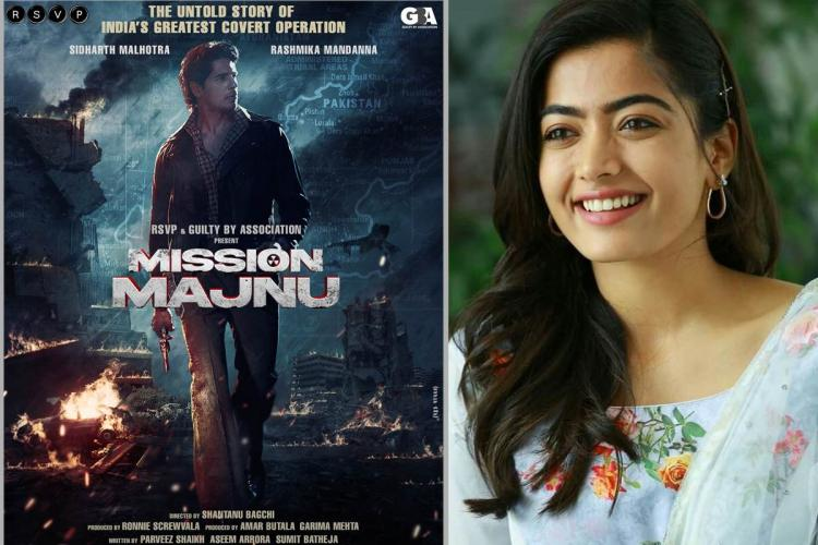 Rashmika Mandanna to make Bollywood debut with Sidharth Malhotra's 'Mission Majnu'