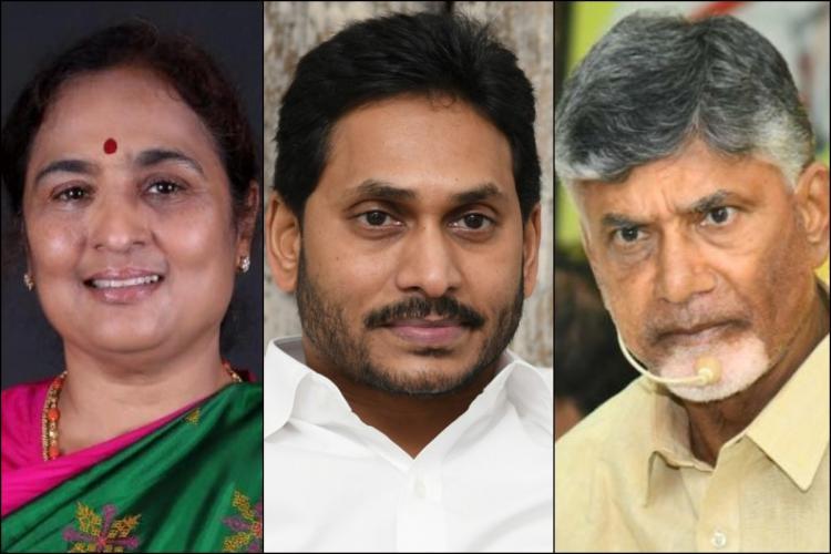 BJP leader Ratna Prabha Andhra Pradesh Chief Minister Jagan and TDP chief Chandrababu Naidu