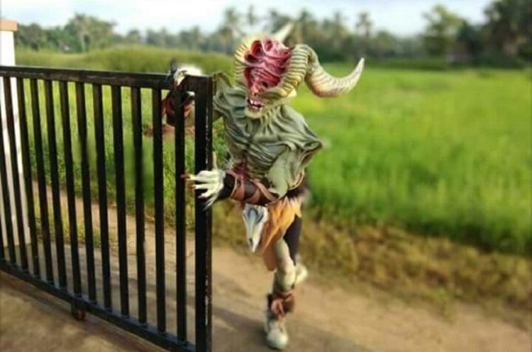 Once a year a monster appears in Udupi to help sick people get better