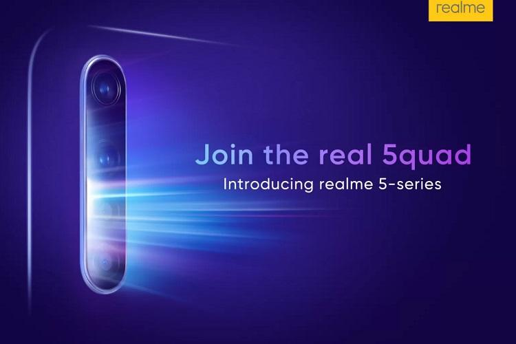 Realme 5 series to launch in India with quad rear camera setup