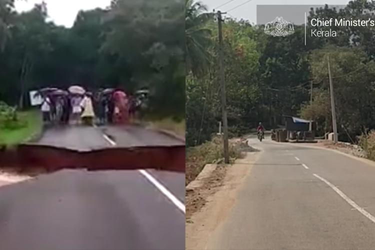 Remember road that caved in during Kerala floods Its restored and serviceable