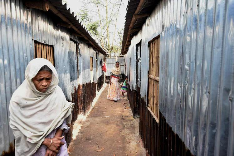 A Rohingya refugee at a camp at Baruipur in South 24 Parganas West Bengal