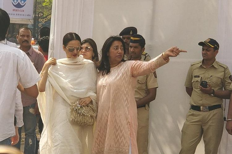 Sridevis farewell in pics Celebs and fans pour in to pay last respects