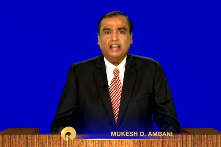 Mukesh Ambani at Reliances 43rd Annual General Meeting