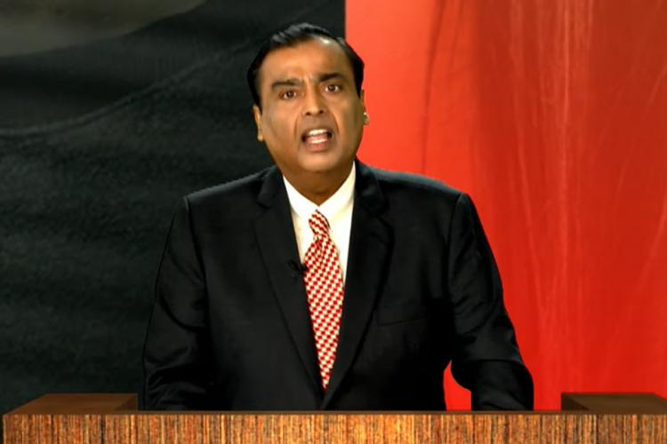 Reliance Chairman Mukesh Ambani at the Reliance Industries 43rd Annual General Meeting