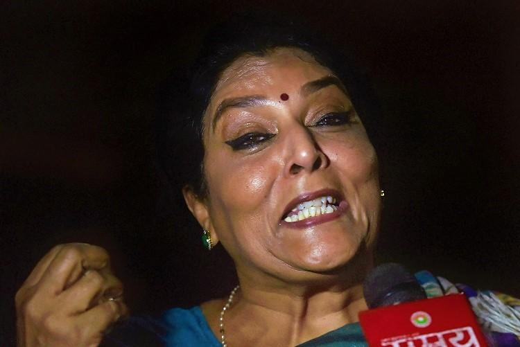Congress protests in RS against Modi's remark on Renuka Chowdhury