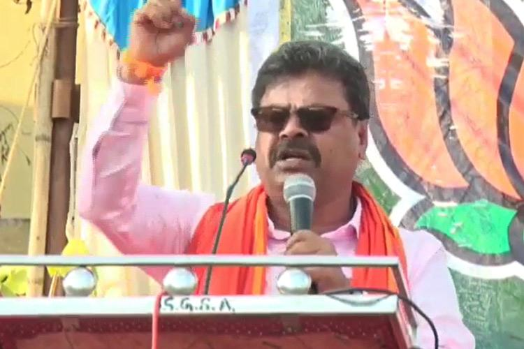 Muslim traitors hiding weapons in mosques BJP MLA Renukacharya at pro-CAA rally