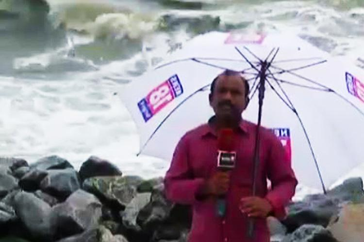 Kerala reporter gets hit on the job And the video will have you cracking up