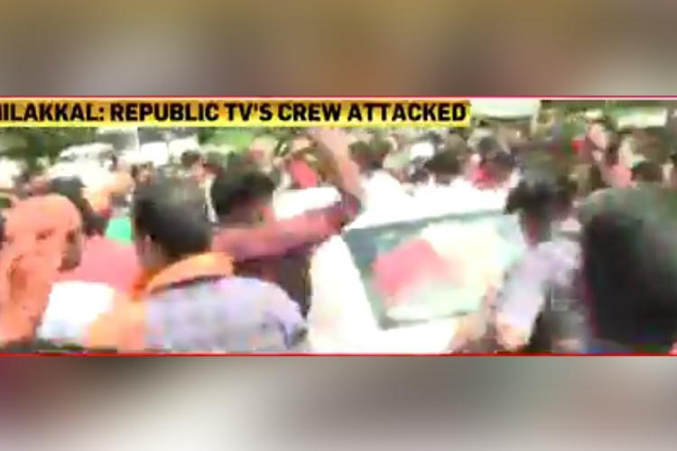 Republic TV CNN-News18 journalists attacked by anti-women Sabarimala mobs