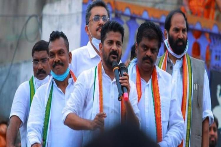 Congress leaders during GHMC election campaign
