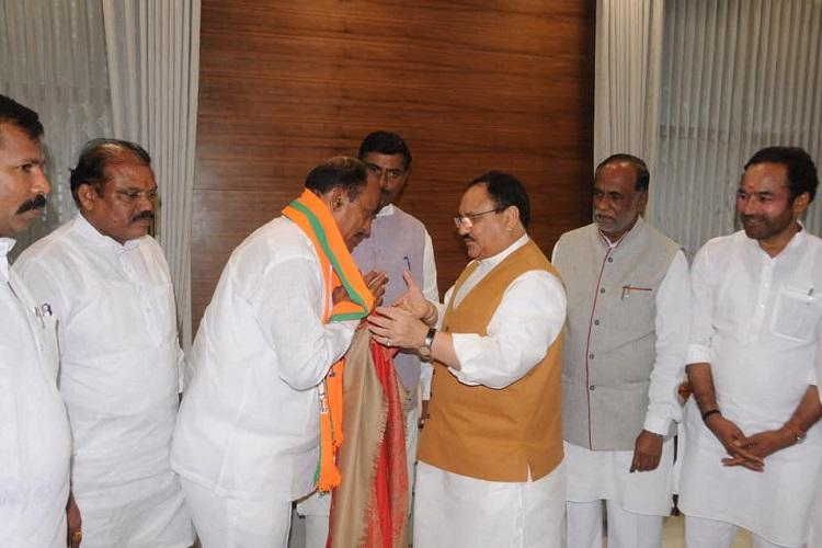 Telangana TDP loses another leader as ex-MLA Revuri Prakash Reddy joins BJP