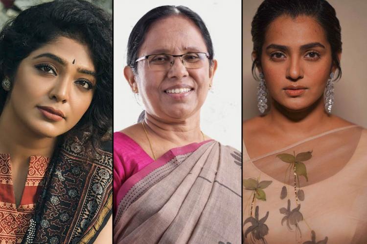 Parvathy Rima Rajisha and other Mollywood celebs question KK Shailajas exclusion