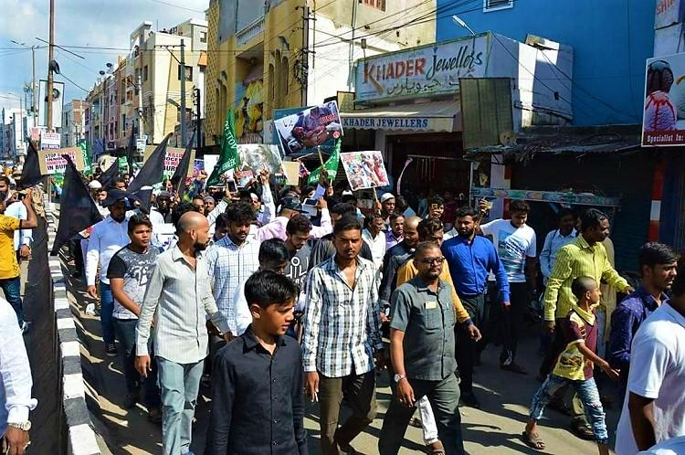 Hundreds take to the streets in Hyderabad to protest Centres plans to deport Rohingyas