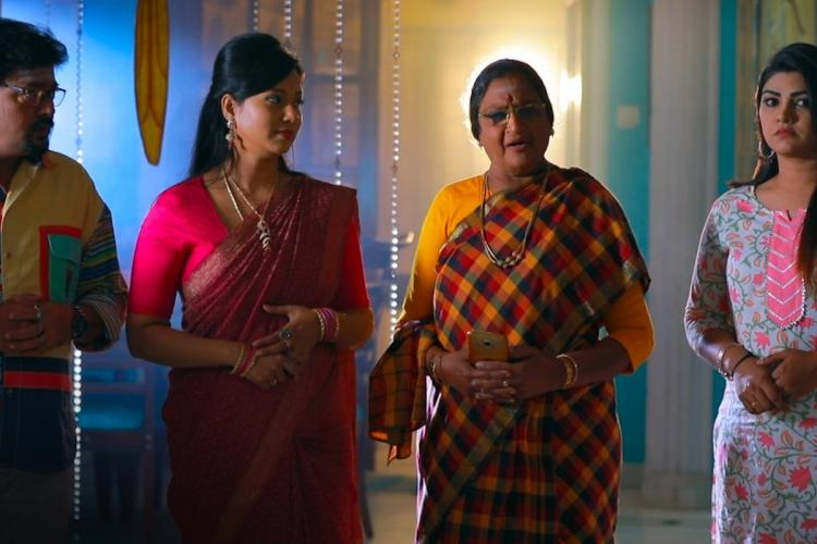 A scene from Tamil serial Roja