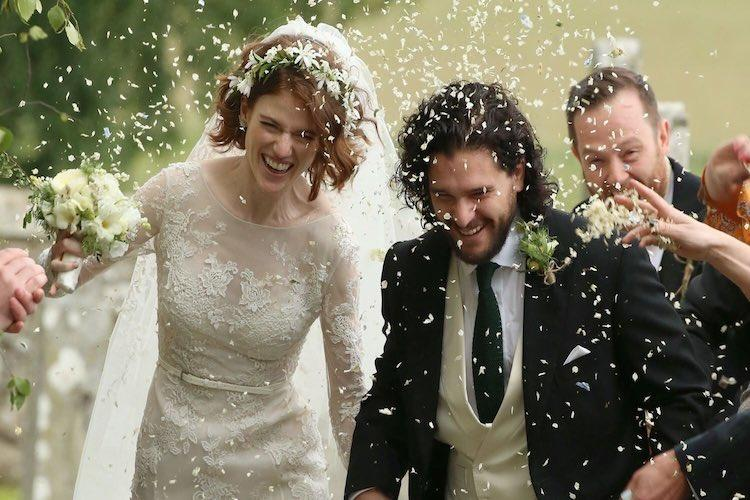 Game of Thrones co-stars Kit Harington and Rose Leslie get married in Scotland