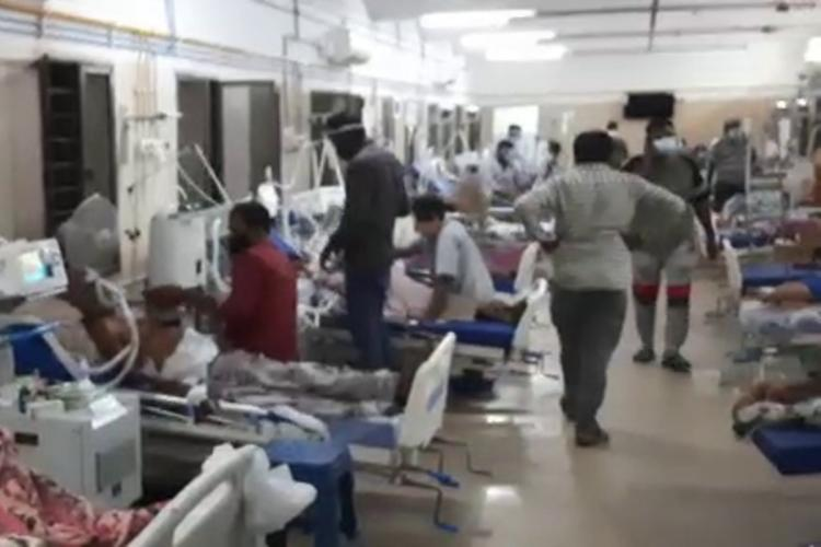 COVID patients in Ruia government hospital in Tirupati