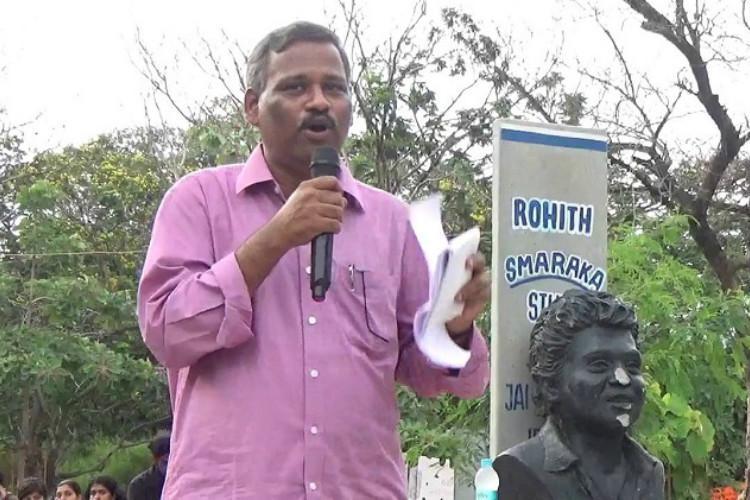 EFLU Teachers association condemns raids at Professor Satyanarayanas house