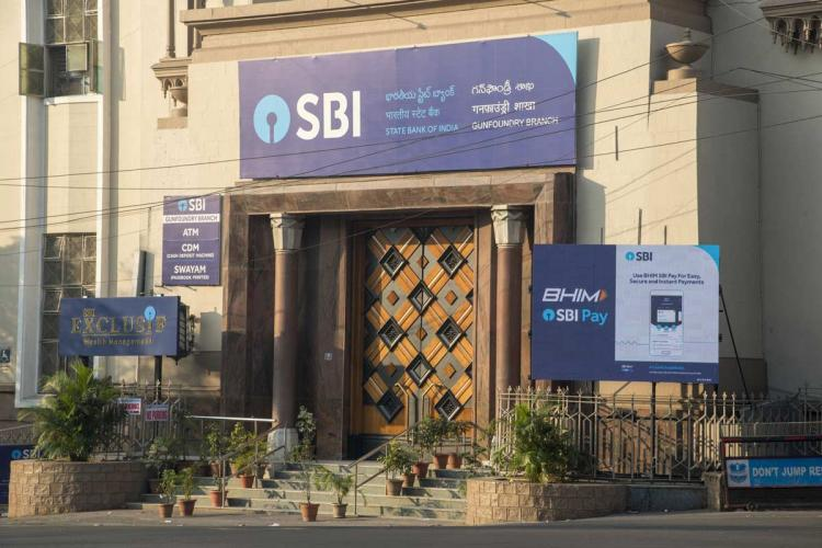 File photo of an SBI branch in Hyderabad