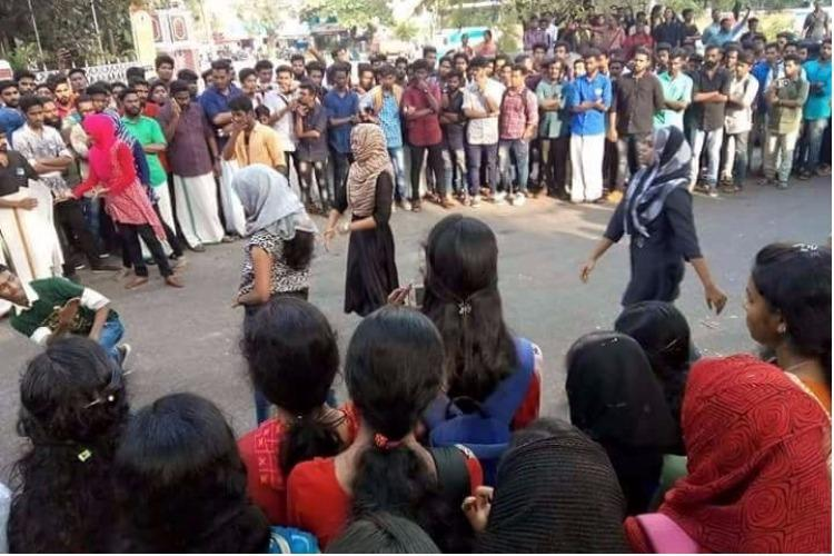 Kerala Muslim girls trolled for dancing Students respond with flash mobs across state