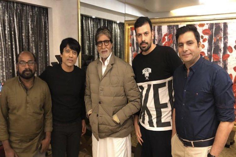 SJ Suryah meets Amitabh Bachchan to discuss their upcoming film together