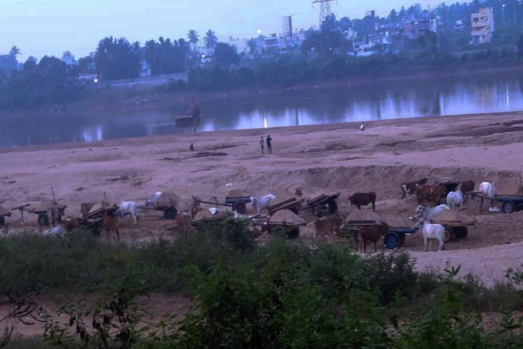 Residents in APs Srikakulam allege illegal sand mining seek official intervention