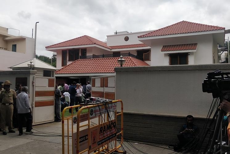 VG Siddhartha missing Yediyurappa Kumaraswamy others visit father-in-law SM Krishna
