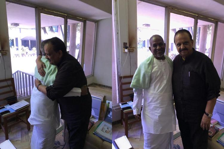 Ilaiyaraaja and SPB unite after royalties spat pictures go viral