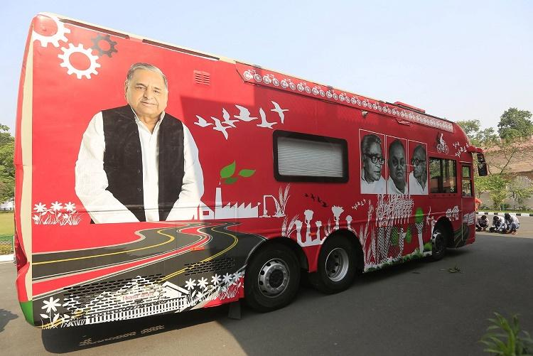SPs Rath Yatra After Mercedes chariot develops snag Akhilesh settles for his regular SUV