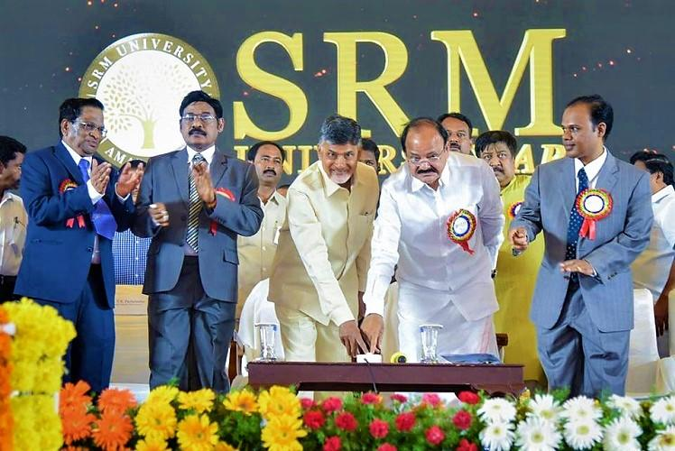 Andhras new capital gets its first university SRM AP inaugurated in Amaravati