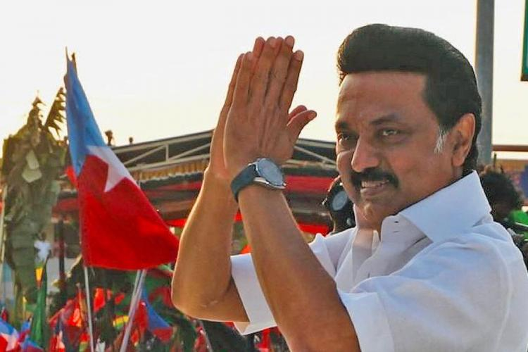 MK Stalin greeting voters during campaign in Tamil Nadu