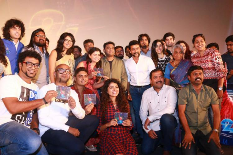 Suriyas sci-fi thriller 24s audio released at grand function