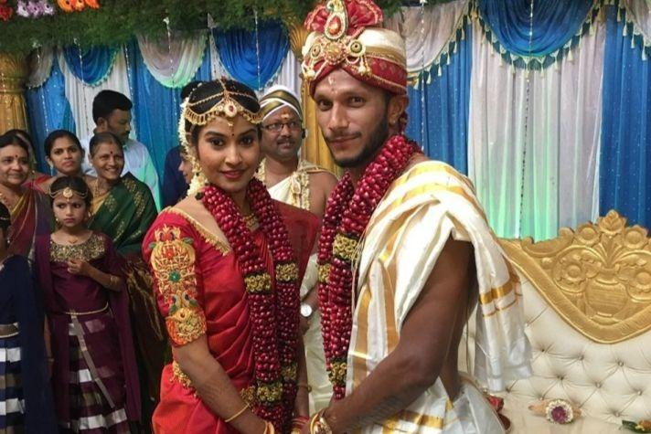 Ace Indian hockey player SV Sunil gets married in Mangaluru