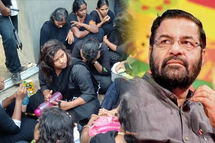 Sabarimala row Kerala govt passes buck to monitoring committee on entry of 11 TN women