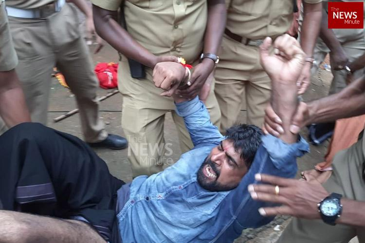 BJP Yuva Morcha members dressed as Ayyappas arrested in Pamba