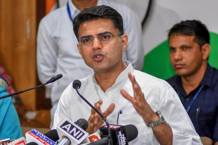 File image of Sachin Pilot addressing a press conference